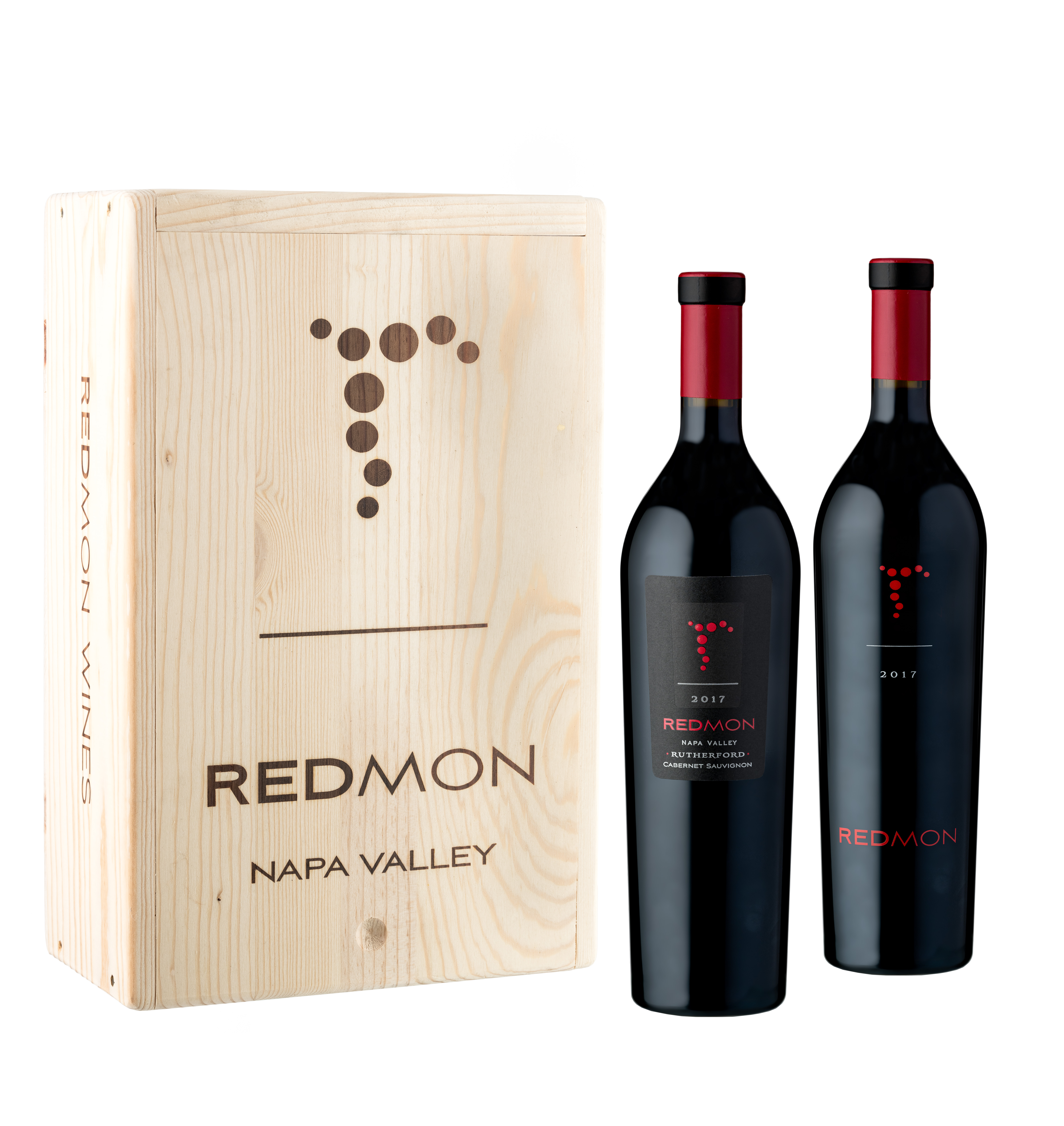 Product Image for 2 Bottle RED Wood Box Set